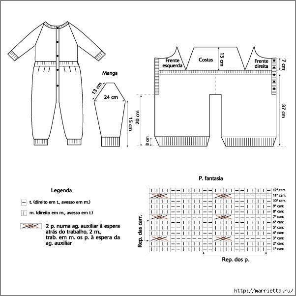 Комбинезон для новорожденного спицами, 25 авторских моделей с описанием и схемами,  вязание для детей