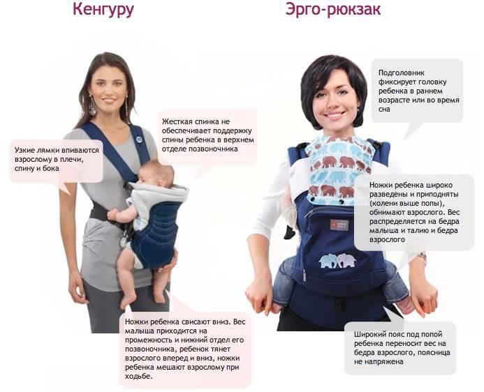 Эргорюкзак для новорожденных — правила использования