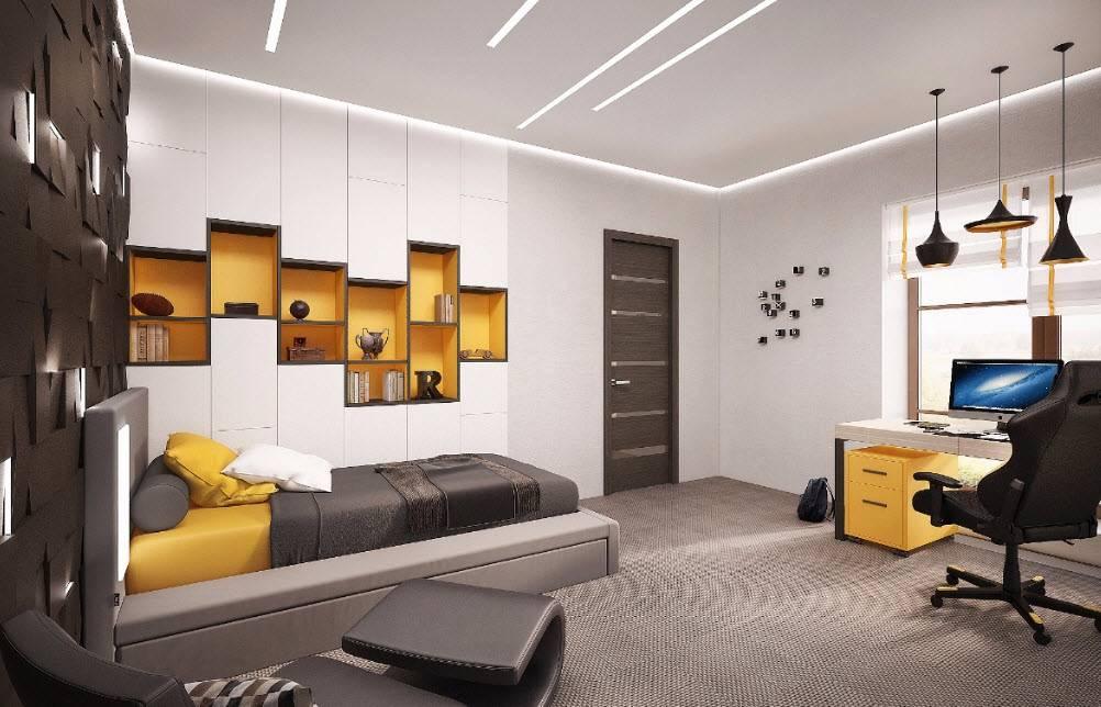 Современный интерьер комнаты для мальчика 12-16 лет