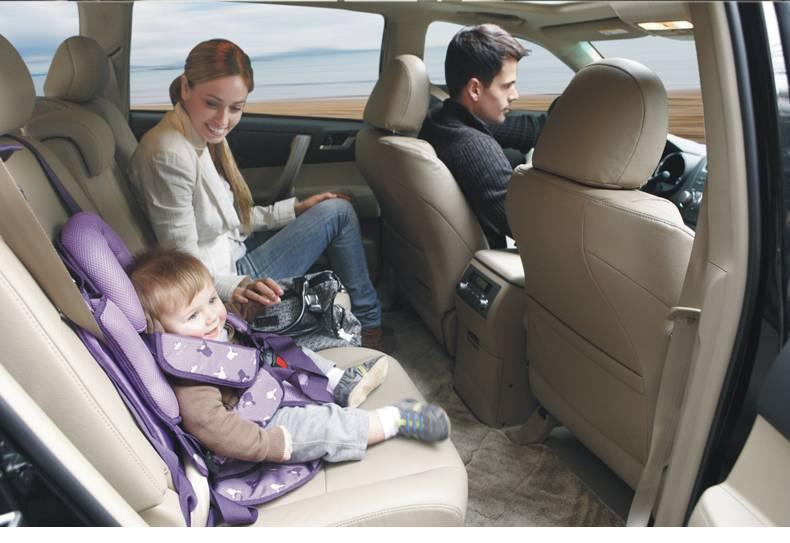 Как пристегнуть детское кресло на переднее сиденье