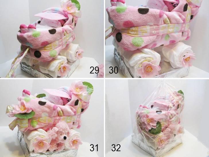 Поделка изделие свит-дизайн день рождения бумагопластика букет и тортики из памперсов бумага гофрированная