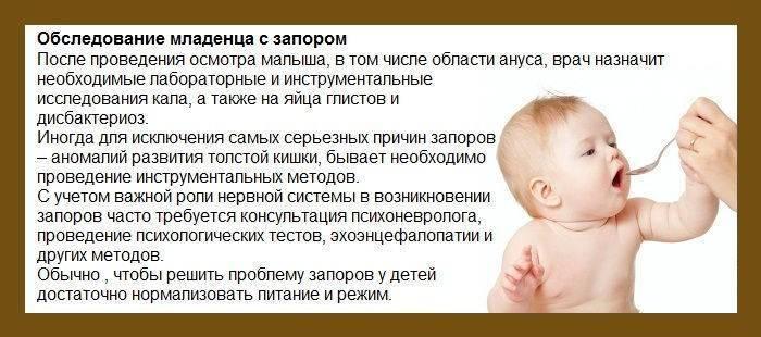 Запор у ребенка 6 месяцев — виды и причины