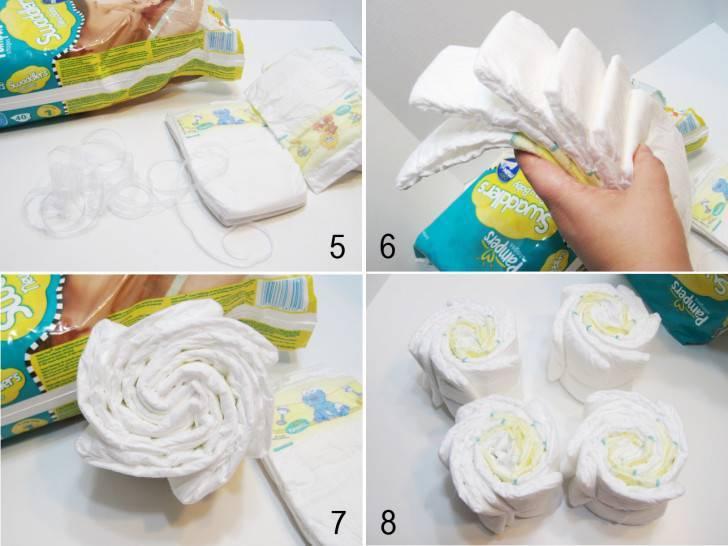 Как сделать оригинальный подарок из подгузников?