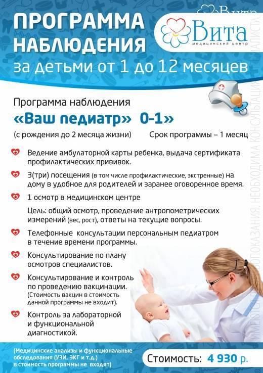 Правила приема грудничков в поликлинике