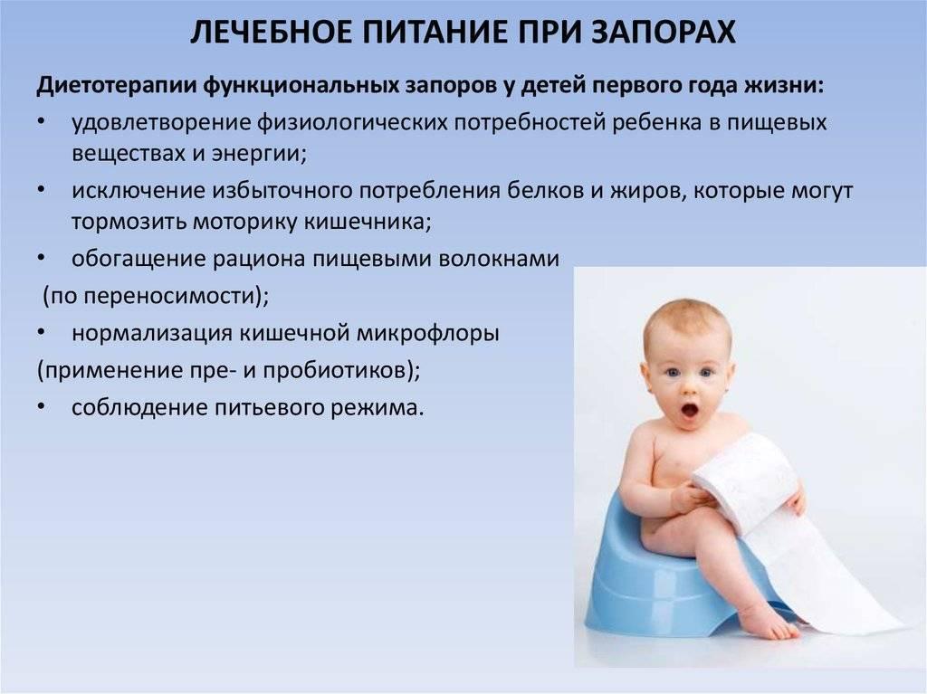 Причины запоров у детей и методы их коррекции. смеси от запоров.
