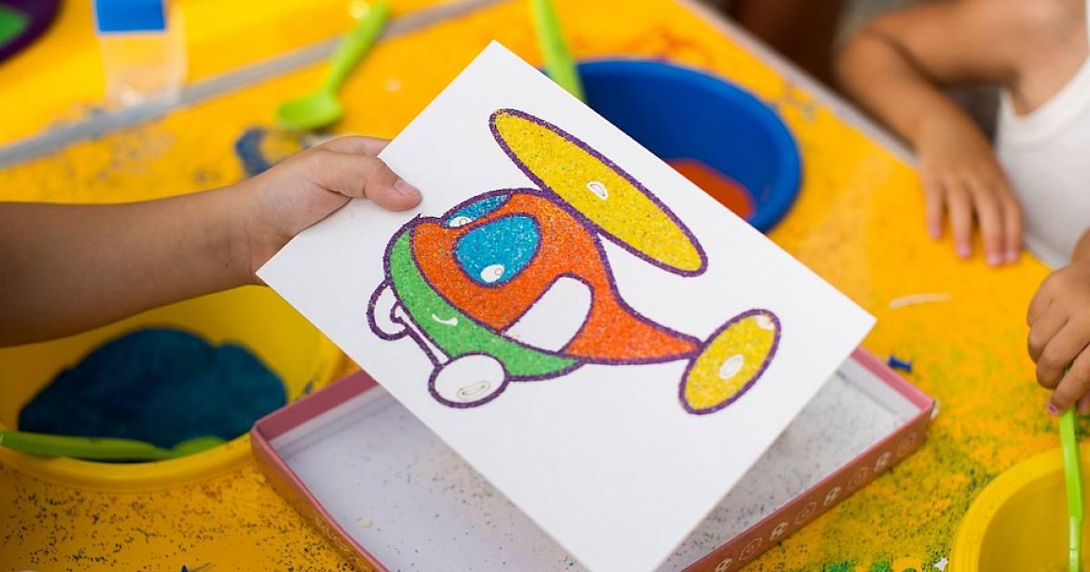 Конспект занятия в старшей группе с использованием нетрадиционной техники рисования цветным песком «аквариум»