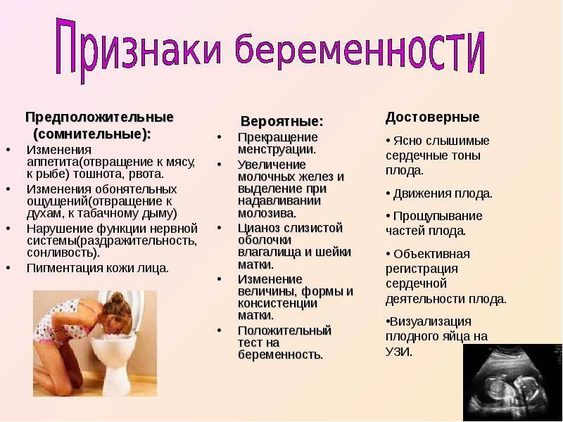 Признаки беременности: узнать как можно раньше