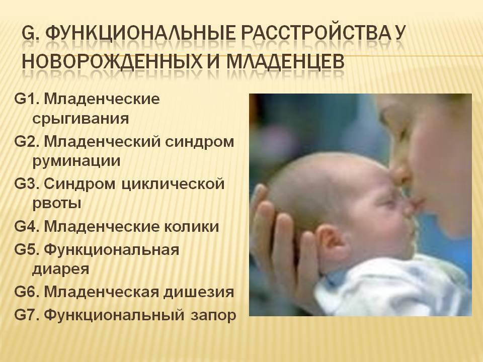 Синдром рвот и срыгиваний у детей раннего возраста