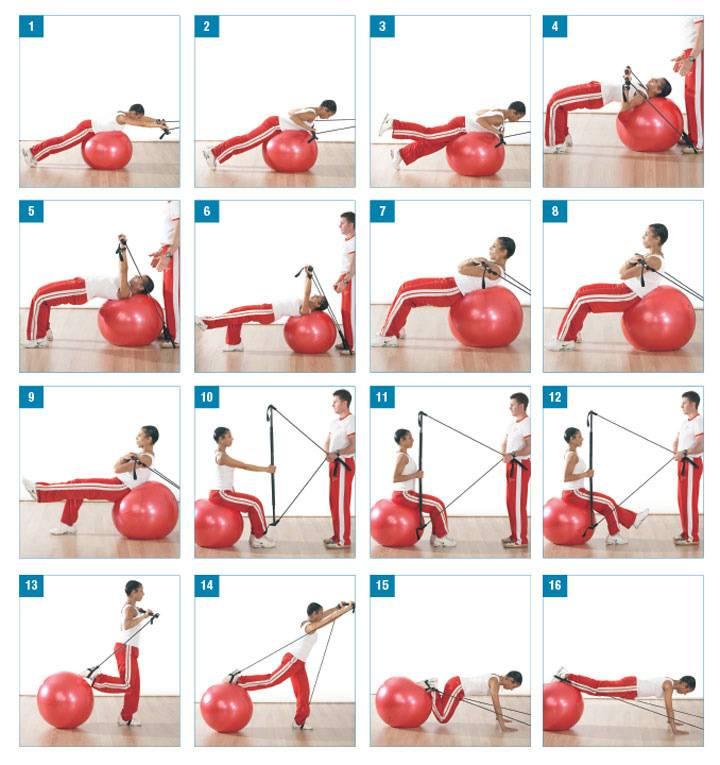 Гимнастика с пеленок – занятия с грудничком на фитболе