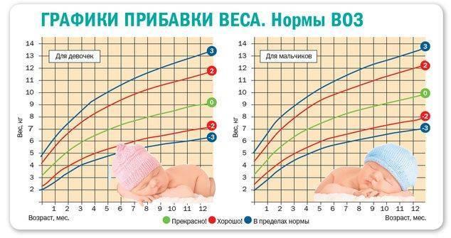 Прибавка веса по месяцам у ребенка до года - medical insider