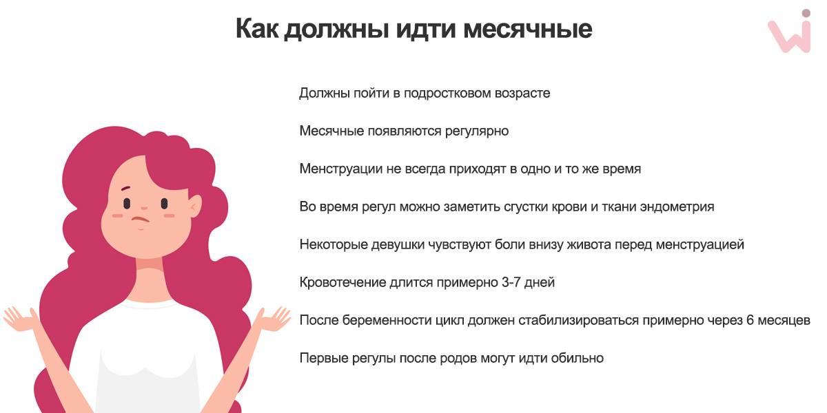 Первые месячные у девочек: когда начнутся, признаки, что делать
