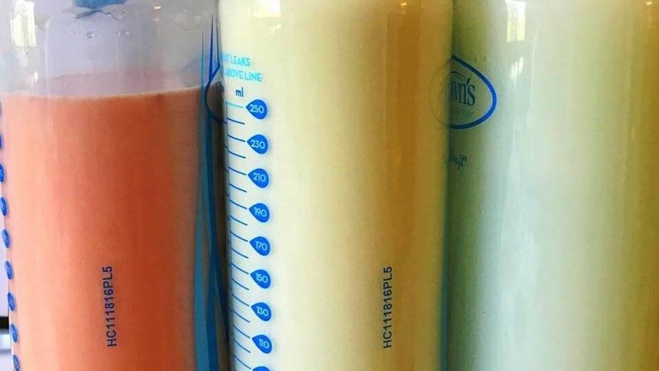 Цвета и оттенки материнского молока во время грудного вскармливания