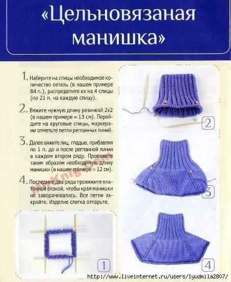 Манишка спицами для ребенка: подробное описание вязания со схемой и видео