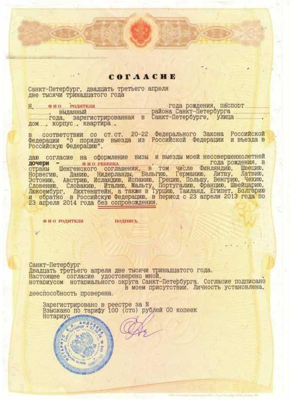 Шенгенская виза для ребенка в 2020 году - заполнение анкеты, документы