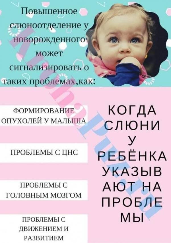 Обильное слюноотделение у ребенка - причины и лечение (в том числе грудных детей)