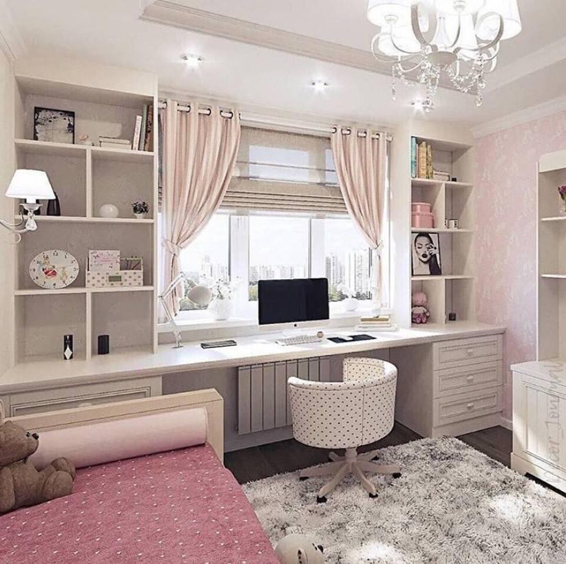 Креативные идеи дизайна комнаты для девочки-подростка в современном стиле