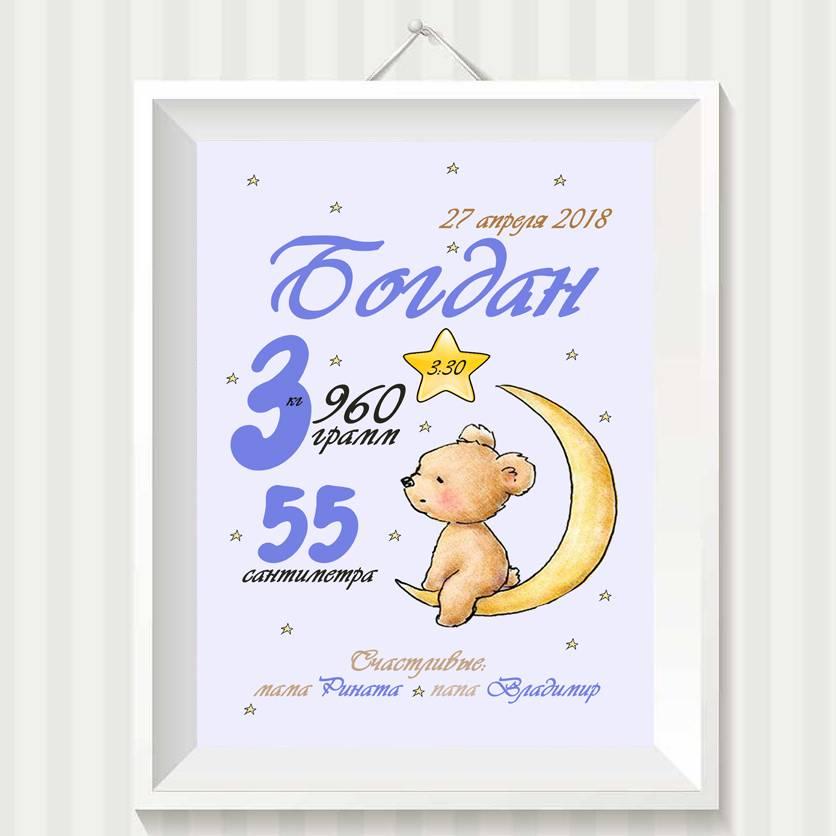 Метрика для новорожденных: схемы и шаблоны из дерева, вышивка, постеры, трафареты