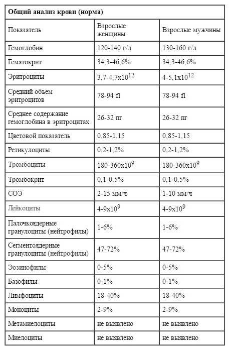 Биохимический анализ крови у детей — расшифровка результатов