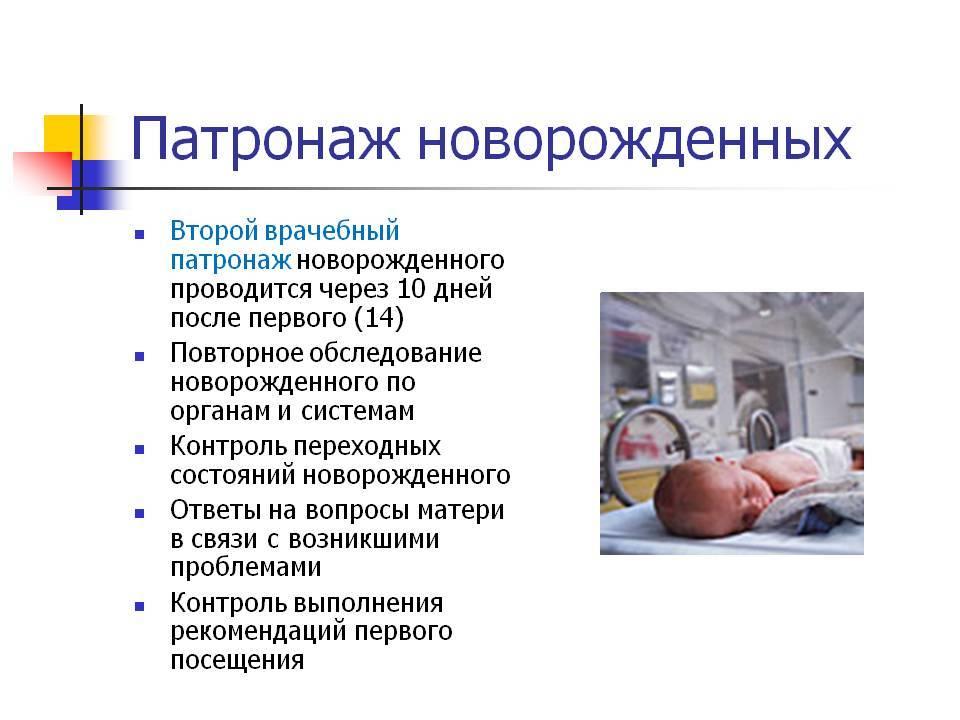 Патронаж новорожденного ребенка: сроки, помощь медсестры
