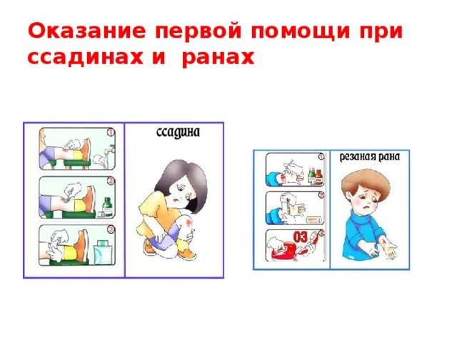 Первая помощь ребенку при ранах, ссадинах и царапинах  - портал о скорой помощи и медицине