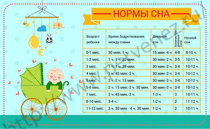Сколько часов в сутки должен спать новорожденный ребенок до месяца