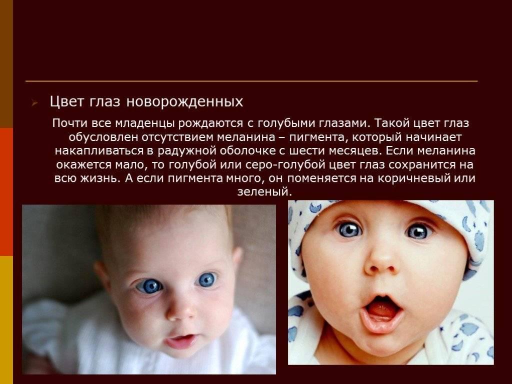 """Когда меняется цвет глаз у новорожденных - """"здоровое око"""""""
