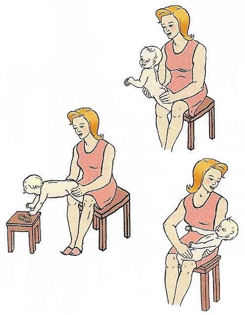 Как научить ребенка садиться