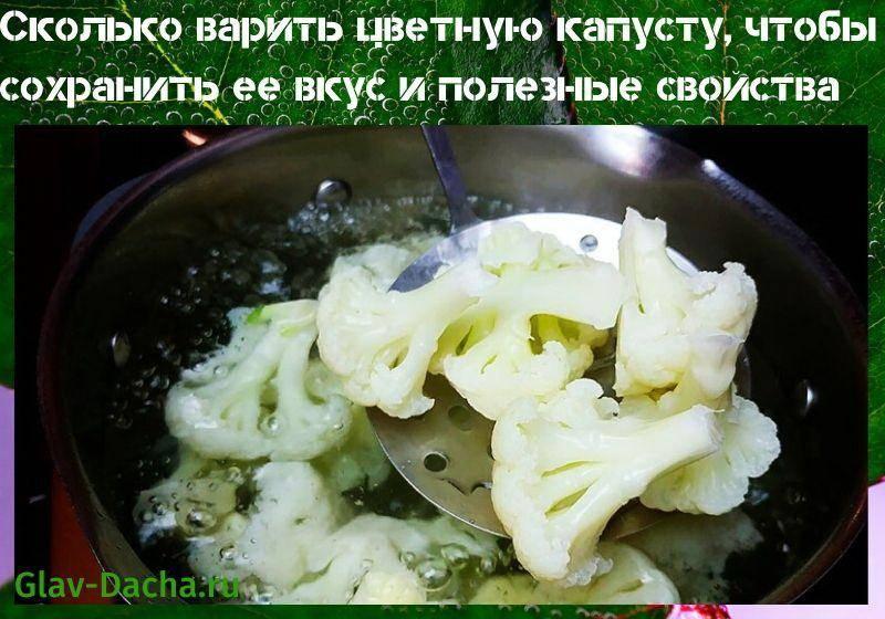 Мастер-класс от шеф-повара: сколько варить свежую цветную капусту, чтобы не испортить готовое блюдо?