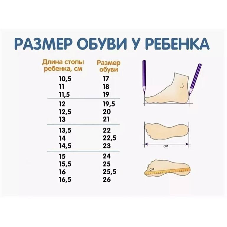 Как выбрать ребенку обувь по стельке на сколько больше брать