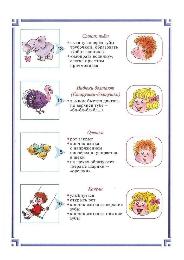 Гимнастика для языка для детей 3, 4, 5, 6 лет: совершенствуем речь